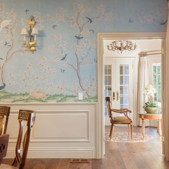 Oak Knoll dining room wall paper